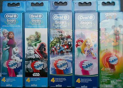 Braun Oral B Stages Power Toothbrush Heads Frozen Avengers Star Wars Disney