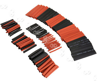 127Pcs Black&Red Heat Shrink Tubing Kit Wire Electrical Sleeving Tube 7 Sizes