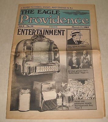 3/11 1982 The PROVIDENCE EAGLE NEWSPAPER LOCAL RHODE ISLAND RI SOLID GOLD GIBB