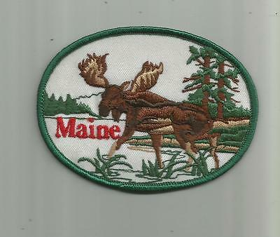 Vintage Maine Me Moose Patch Hunt Hunting Hunter Guns Unsewn 4 Inches Wide