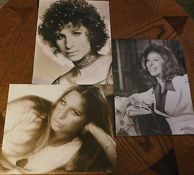 3 Barbra Streisand 11 X 14 Photos A Star Is Born, The Way We Were, What's Up Doc