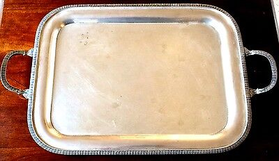 """23"""" long, Rectangular, STERLING SILVER TRAY, 925, 75.5 OZT. Made 1992. Egyptian."""
