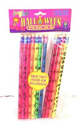 Lisa Frank Neon Color Halloween Pencils Lot of 11 Scary Pencils