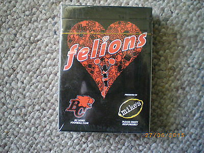 mikes hard lemonaid playing cards bc lions rare felions special edition unopened