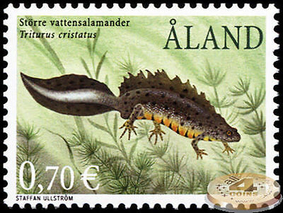Aland Island. 2002. Great Crested Newt (MNH OG)