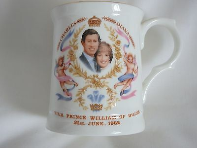 Charles & Diana Prince William Birth Commemorative Bone China Cup 1982