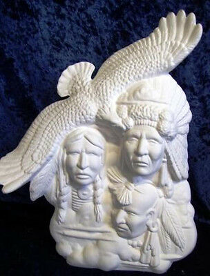 Ceramic Bisque Ready to Paint 1x Native American Indian Skywarriors