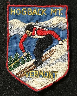 HOGBACK MOUNTAIN Lost Ski Area 1946-86 Skiing Patch VERMONT VT Resort Travel