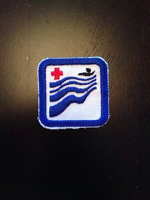 "New Vintage Canadian Red Cross Water Safety Level Badge Patch 2"" Swimming"