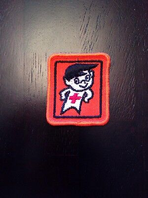 Vintage Buckles Canadian Red Cross Water Safety Mascot Patch Badge Swimming