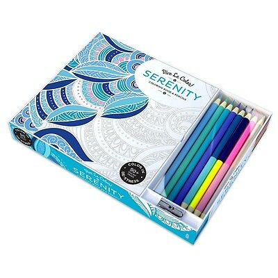 Vive Le Color! Serenity (Adult Coloring Book and Pencils): Color Therapy Kit