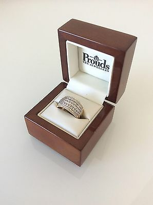 Genuine 100% 9ct Solid Yellow Gold 1.00ct Diamond Ring - Prouds no. 8611128
