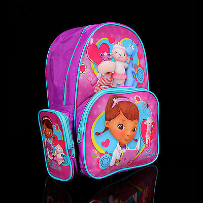 Brand new kids toddlers Doc McStuffins backpack school bag Free Shipping