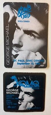 George Michael Pass TWO (2) from 1988 Original Unused Concert and Fan Passes