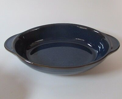 Denby Stoneware Imperial Blue/Cottage Blue? Small Serving Dish  Made in England