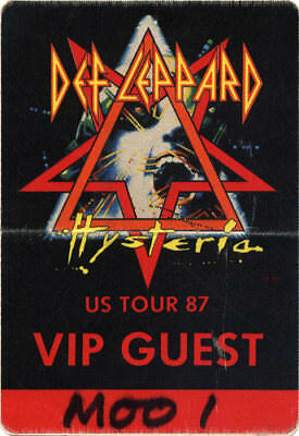 Def Leppard RARE ORIGINAL 1987 Hysteria Tour Backstage Pass - VIP Guest Used