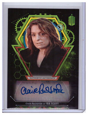 Topps Doctor Who Extraterrestrial Auto CLAIRE RUSHBROOK Ida Scott AUTOGRAPH /50