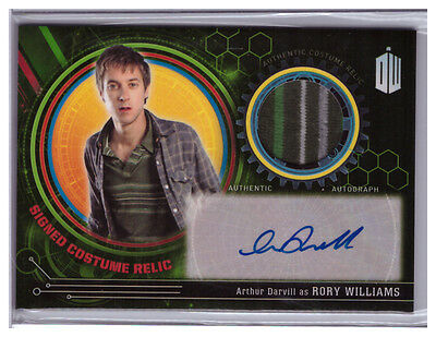 Doctor Who Extraterrestrial ARTHUR DARVILL Rory Williams COSTUME RELIC AUTO 3/5