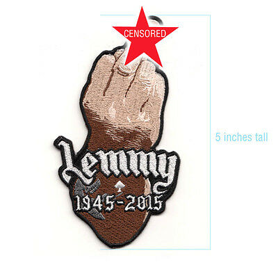 LEMMY Kilmister Embroidered FINGER Patch - Tribute - Motorhead - ace of spades