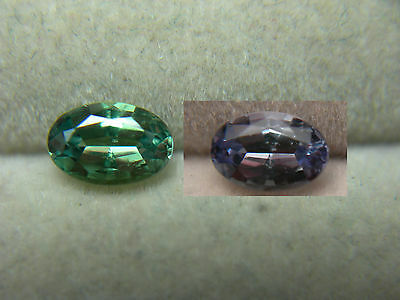 VERY RARE Color Change NATURAL Alexandrite Brazil gem Green to Purple Oval