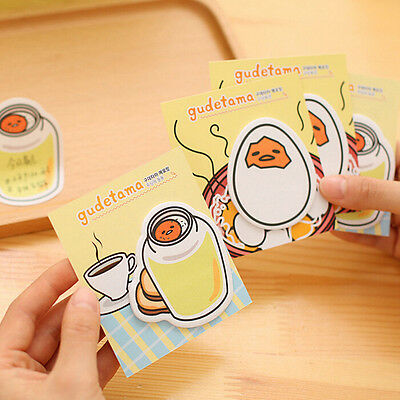 stationery Cute Egg Memo paper sticker Cartoon note pads office school supplie#