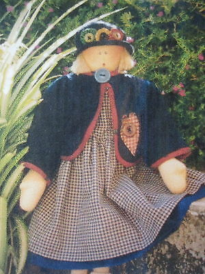 """ CHARLOTTE ""... CLOTH DOLL Pattern... By Hooked on Country"