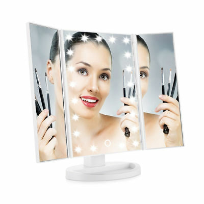 Easehold Portable 21LED Lighted Touch Screen Makeup Cosmetic Vanity Table Mirror