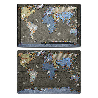 NEW Vinyl Skin for Surface Pro 3, 4, Book Jean World Map Sticker Decal Cover