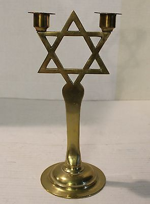 Jewish Candle Stick - Brass - 2 candles