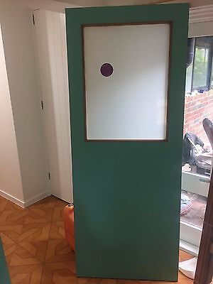 Brand new solid Corinthian Back door with translucent glass - 2040 x 820 x 40