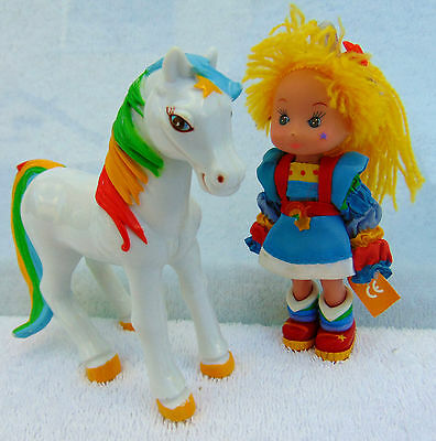 Rainbow Brite Moveable Doll and Rainbow Bright Horse Starlight Toy figures lot
