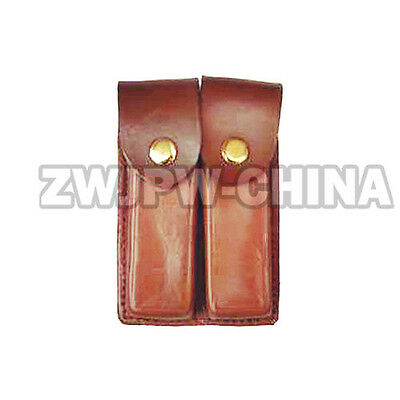 Chinese Army Type 92 2-Link 2 Cell Hunting Leather Clip Package Ammo Pouch Bag