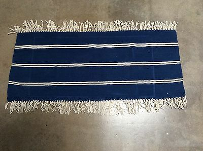 Chimayo Mat Rug New Mexico Southwest Wool Weaving Textile Vintage