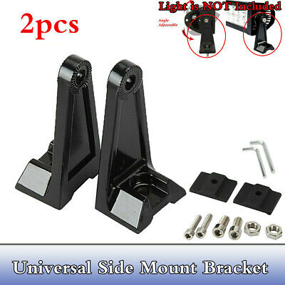 2Pcs Universal Side Mounting Brackets Mount Rotating For LED Work Light Bar Set