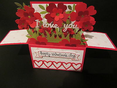 Handmade  3D Valentines Card in a box -I love you, PERSONALISED