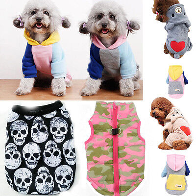 New Pet Puppy Small Dog Cat Pet Clothes Winter Warm Vest T-Shirt Apparel Clothes