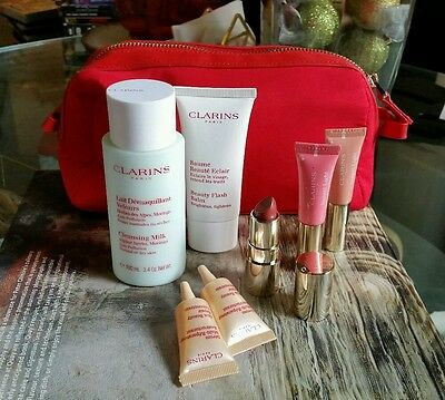 Clarins Bulk Lot 7 Products + Bag Beauty Flash Balm Alpine Cleansing Brand New