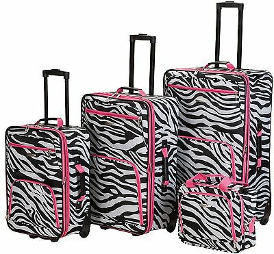 Lightweight Luggage Sets On Sale Suitcases With Wheels Big For Girls Women Zebra