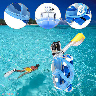 Full Face Mask Scuba Snorkeling Underwater Diving Swimming Breather For Gopro UK