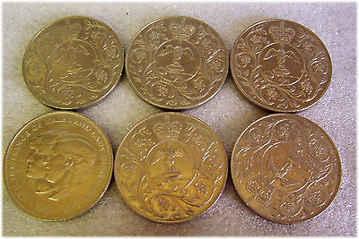6 QEII Queen Elizabeth CROWNS 5 x 1977 1 x 1981
