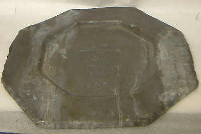 Rare Heavy PEWTER Wild Woodbine LNER Buffet Octagonal Plate Plaque Ashtray 1.4kg