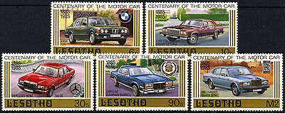 Lesotho 1985 SG#640-4 Century Of Motoring, Cars MNH Set #D40144