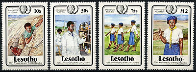 Lesotho 1985 SG#652-5 Youth Year, Girl Guides MNH Set #D40142