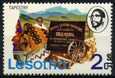 Lesotho 1980-1 SG#402A 2s On 2c Definitive Surch Shift To Right Error MNH#D40087