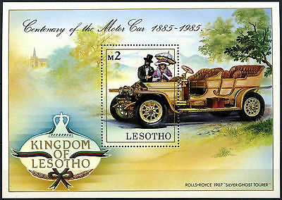Lesotho 1985 SG#MS645 Century Of Motoring, Cars MNH M/S #D40143