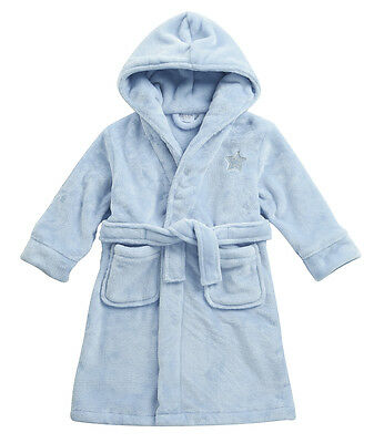Embroidered Personalised INFANT boys star Soft Dressing Gown Bath Robe 2 TO 6 YR
