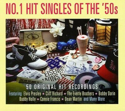 Various Artists - No. 1 Hit Singles of the 50's / Various [New CD] UK - Import