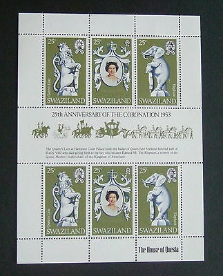 Swaziland 1978 25th Ann of Coronation sheetlet MNH UM  unmounted mint elephant x