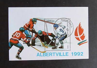 Guinea Bissau 1989 Winter Olympic Games Ice Hockey MS117 MS miniature CTO Used x