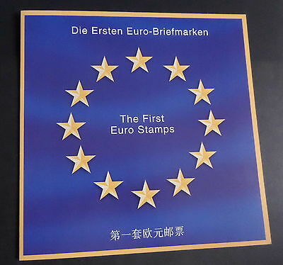 The First Euro Stamps presentation pack - as photos MNH UM unmounted mint (M) x